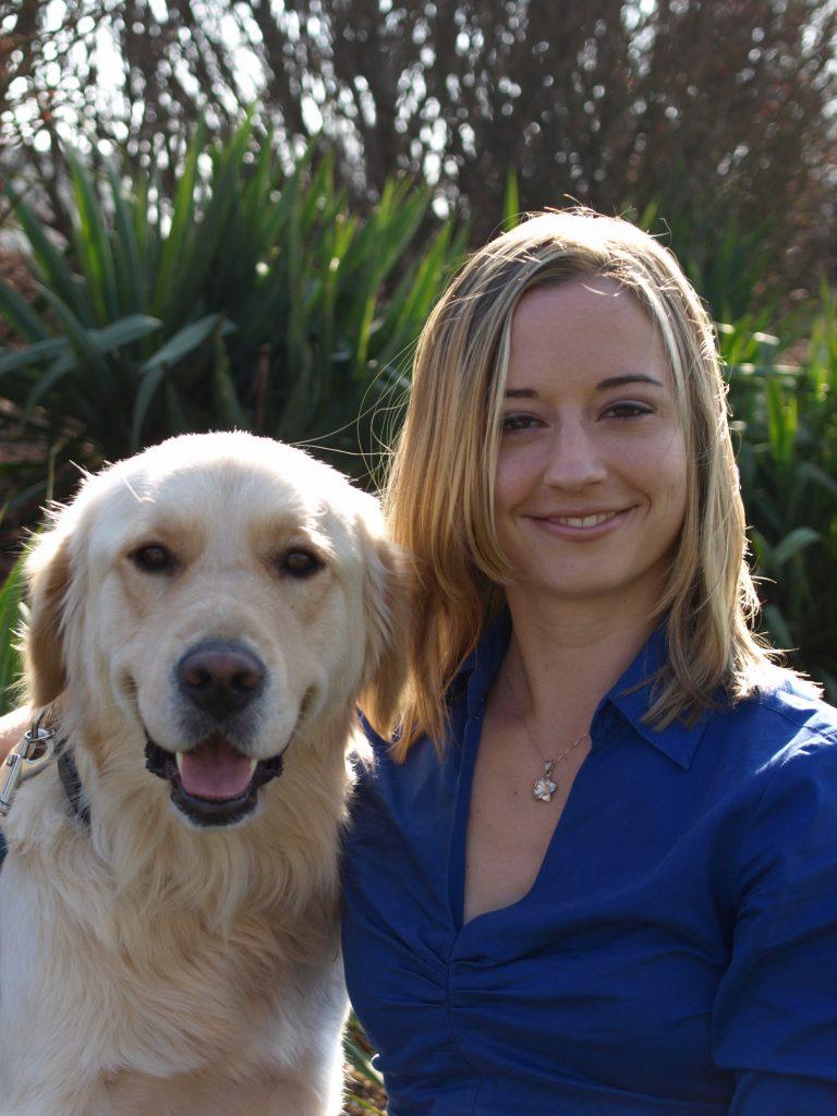 Dr. Elaine Williams with dog