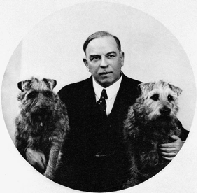 William Lyon MacKenzie King with two dogs