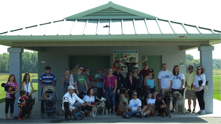 Group photo of Stride for Strays participants