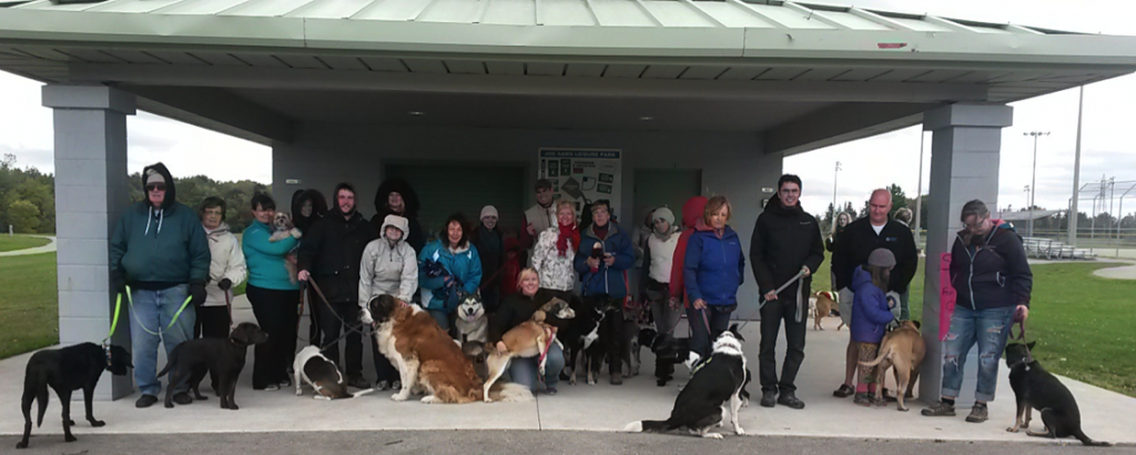 Group photo of Stride for Strays 2015 participants